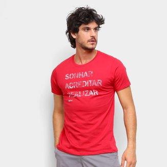 Camiseta Gajang Sonhar Acreditar Realizar Masculina