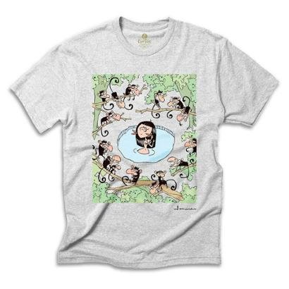 Camiseta Geek Cool Tees Comics Fernando Gonsales Amazônia Macacos Masculina