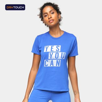 Camiseta Gonew Yes You Can Feminina