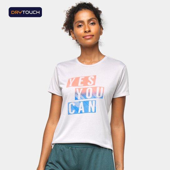 Camiseta Gonew Yes You Can Feminina - Cinza