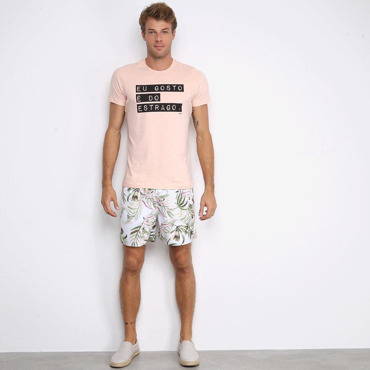 Camiseta Handbook Estrago Masculina - Laranja
