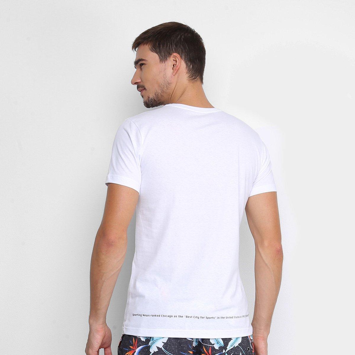 Camiseta Handbook Manga Curta Hbf Masculina - Branco e Preto