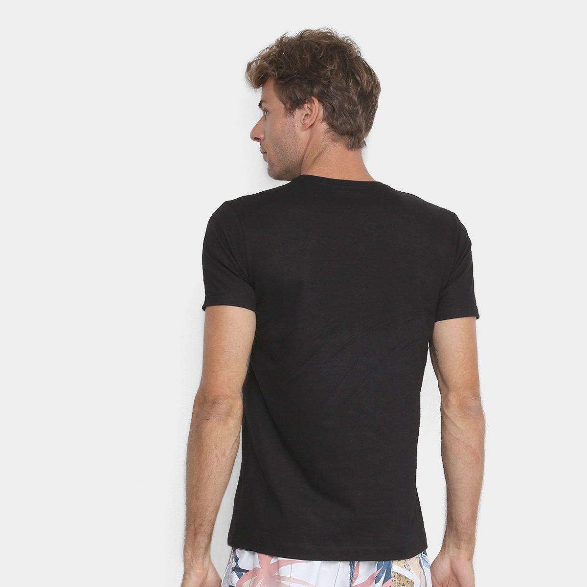 Camiseta Handbook No Stress Masculina - Preto