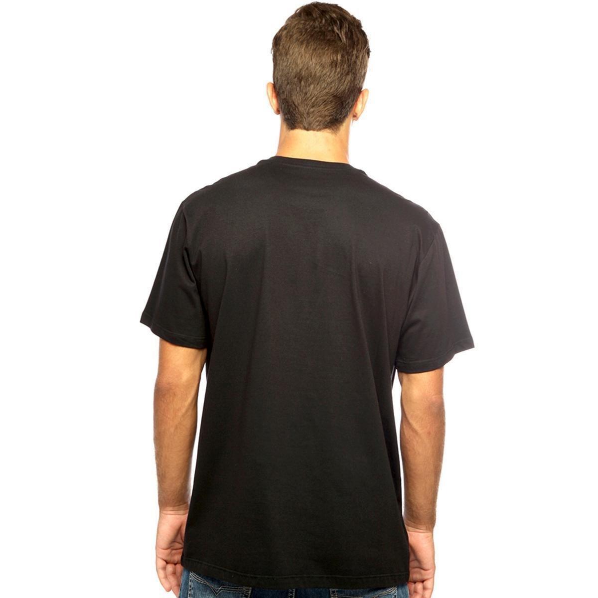 Camiseta Hardivision Sid Manga Curta Masculina - Preto