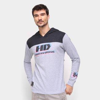 Camiseta HD 3D Sport Manga Longa Masculina
