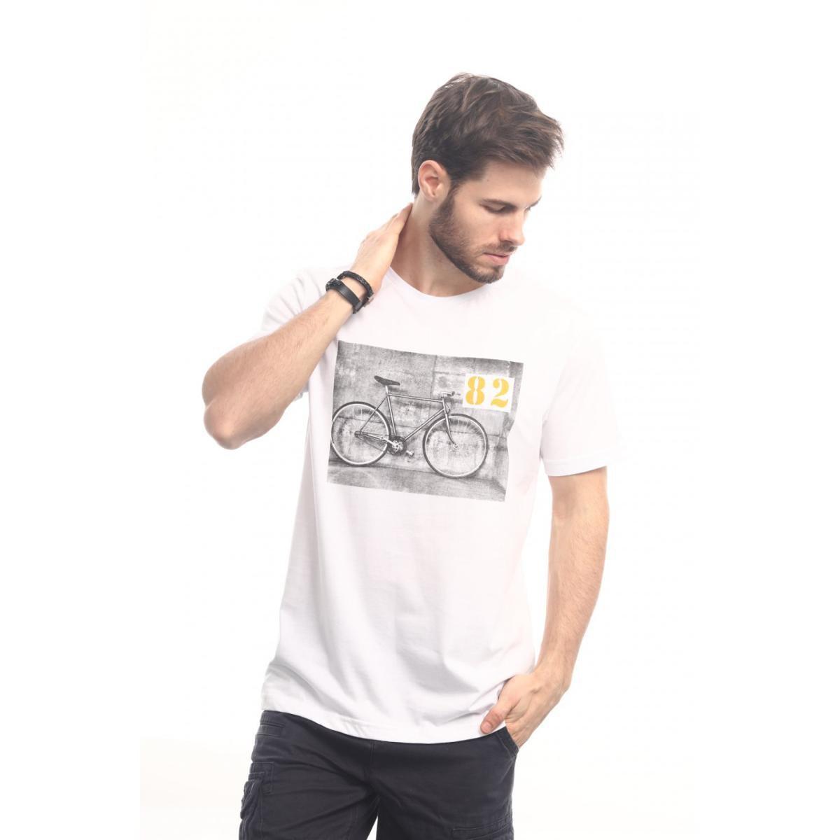 Camiseta Head Play Bike 82 Masculina - Branco