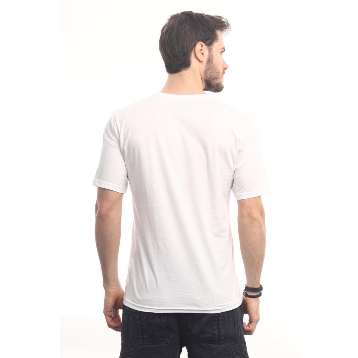 Camiseta Head Play Escape Folhas Masculina - Branco