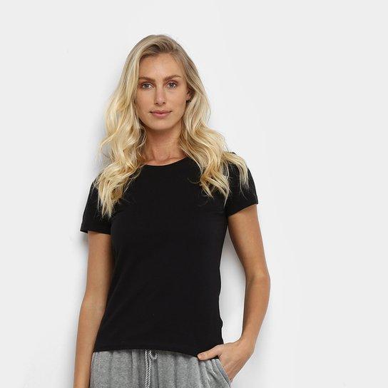 Camiseta Hering Básica Feminina - Preto