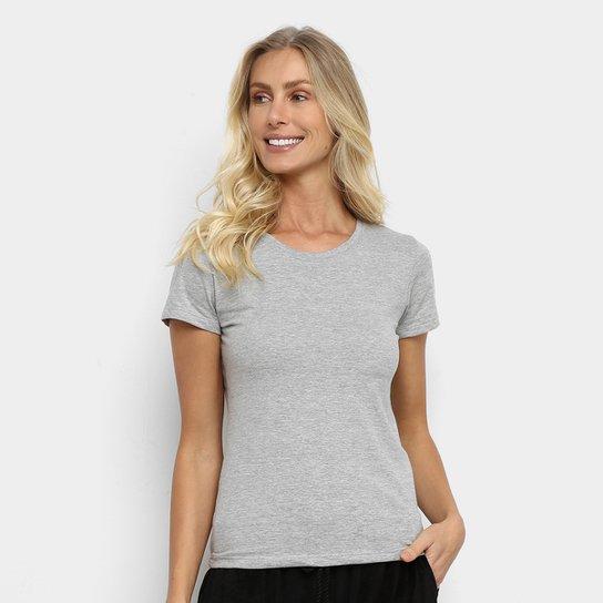 Camiseta Hering Básica Feminina - Mescla