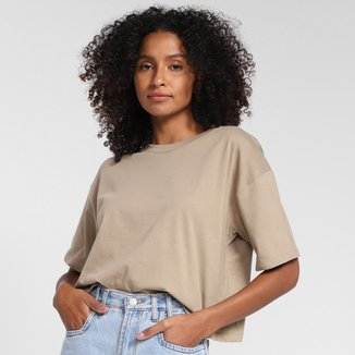 Camiseta Hering Box Básica Feminina