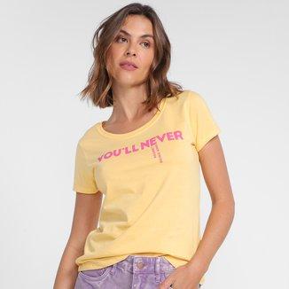 Camiseta Hering Estampada Feminina