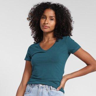 Camiseta Hering Gola V Feminina