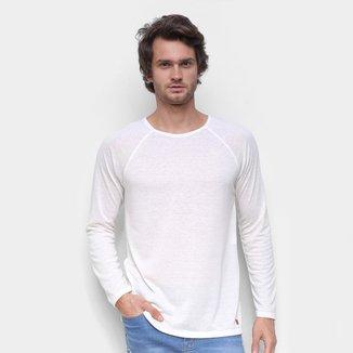 Camiseta Hering Linho Manga Longa Masculina