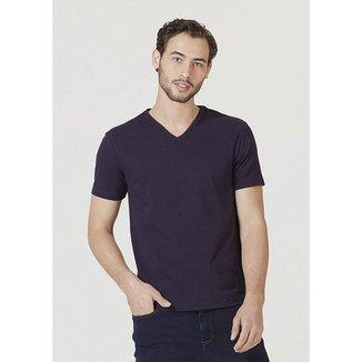 Camiseta Hering Manga Curta Super Slim Em Algodão Com Elastano Masculina
