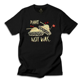 Camiseta Hippie Cool Tees Tie Dye Make Love Not War