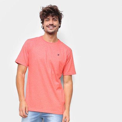 Camiseta Hurley Heat Masculina Masculino-Vermelho