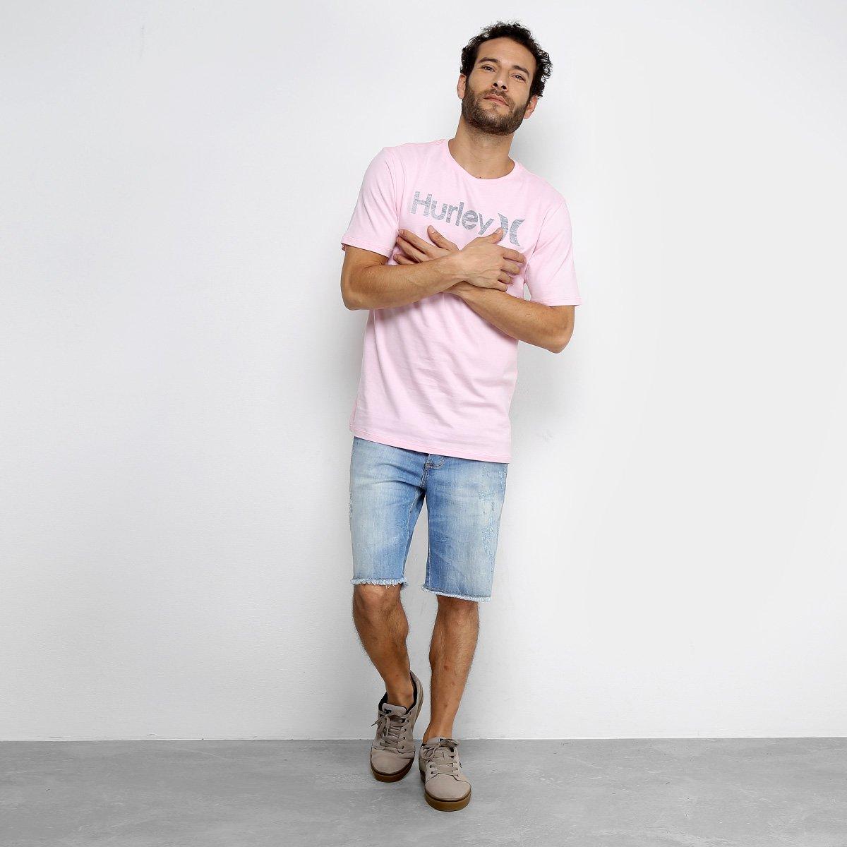 9214fc1c1a436 Camiseta Hurley Push Throught Masculina - Rosa - Compre Agora