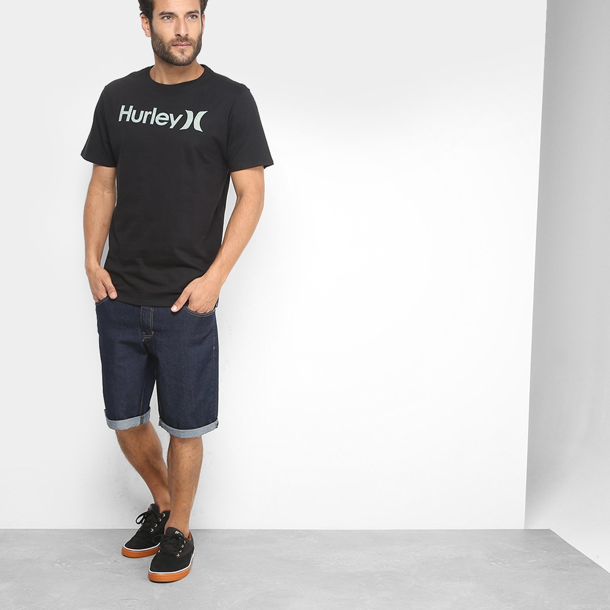 Camiseta Hurley Silk O O Cross Winds Masculina - Compre Agora  98955f7080fd9