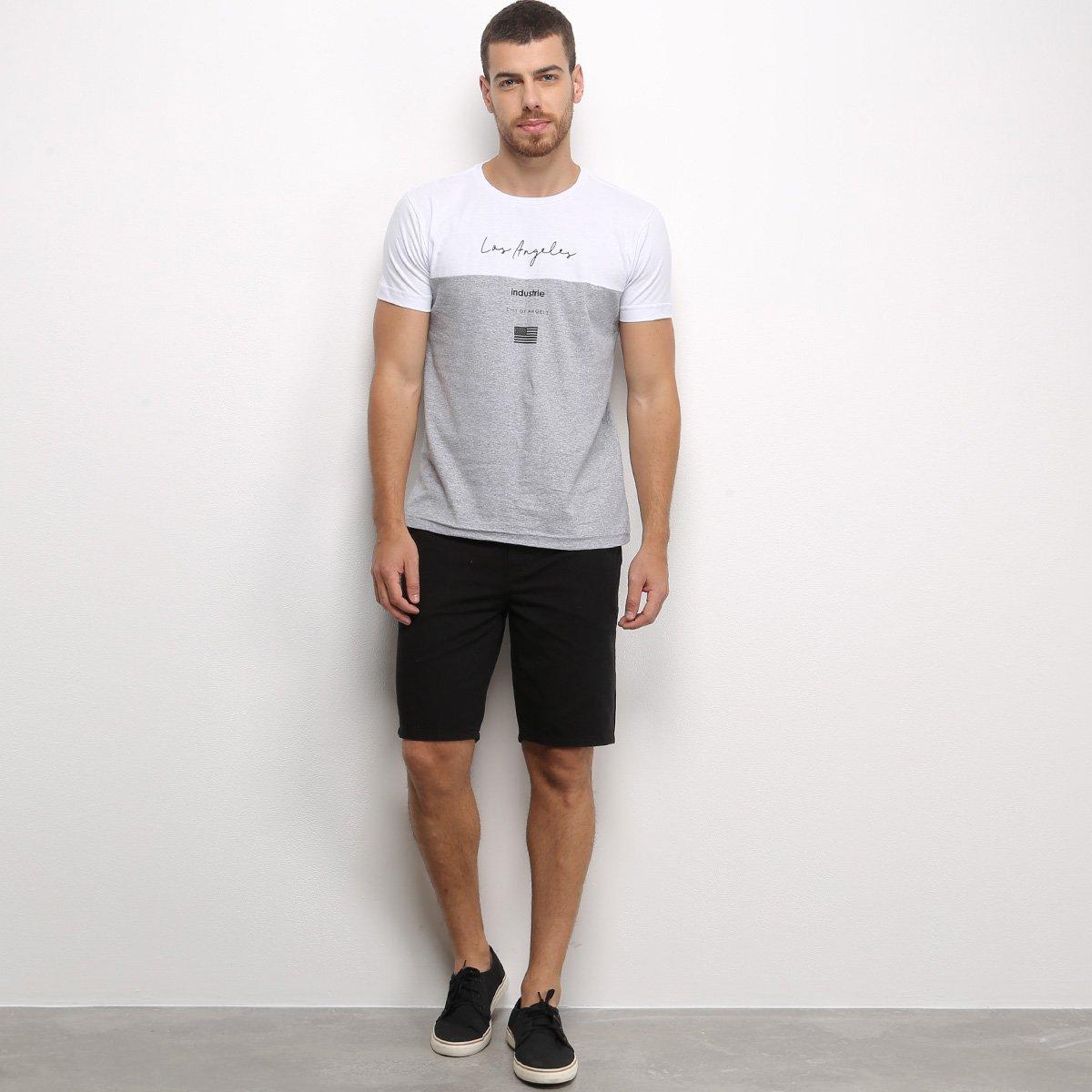 Camiseta Industrie Básica Especial Los Angeles Masculina - Branco