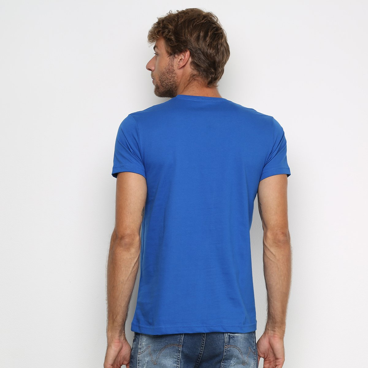 Camiseta Industrie Estampada Manga Curta Masculina - Azul Royal