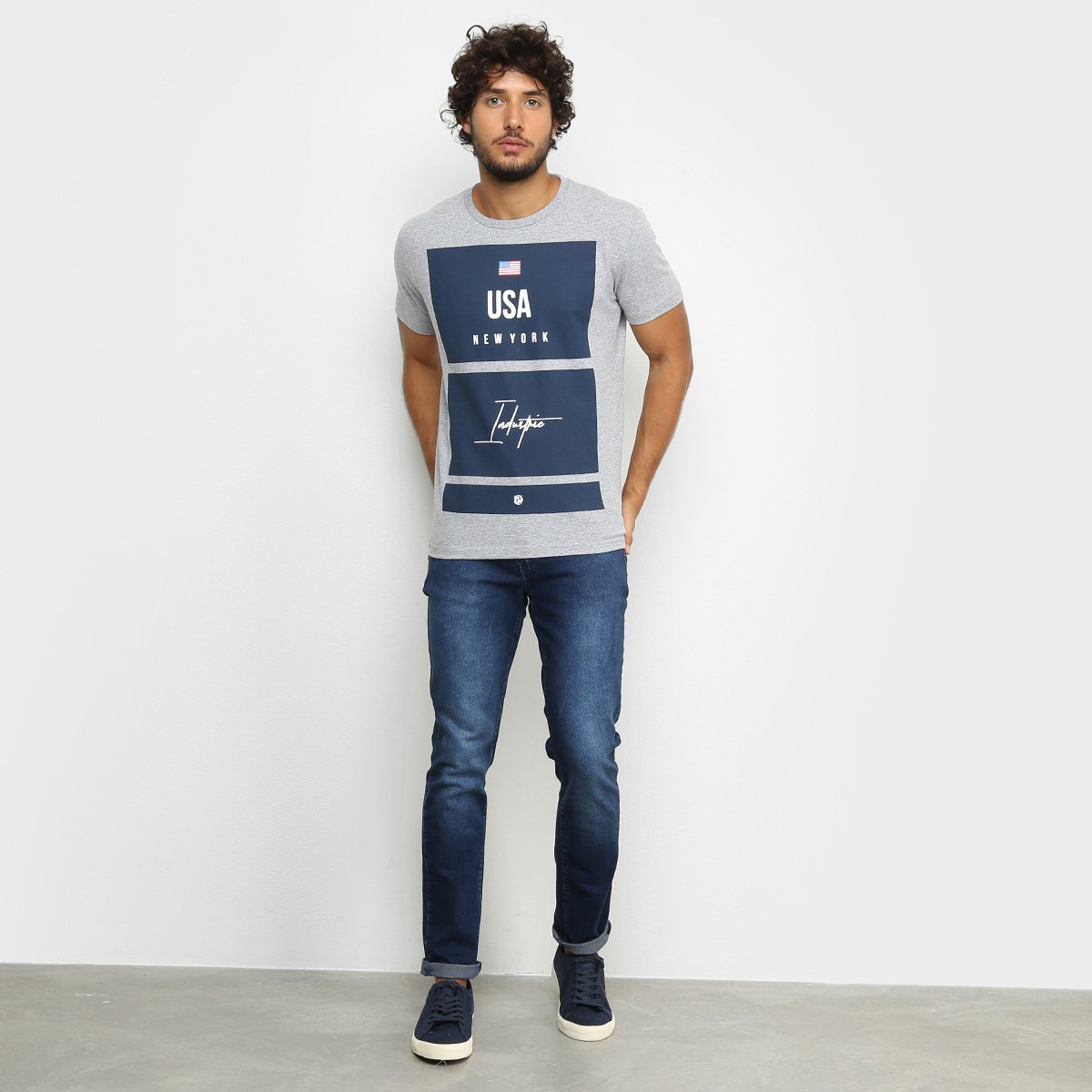 Camiseta Industrie New York Masculina - Mescla