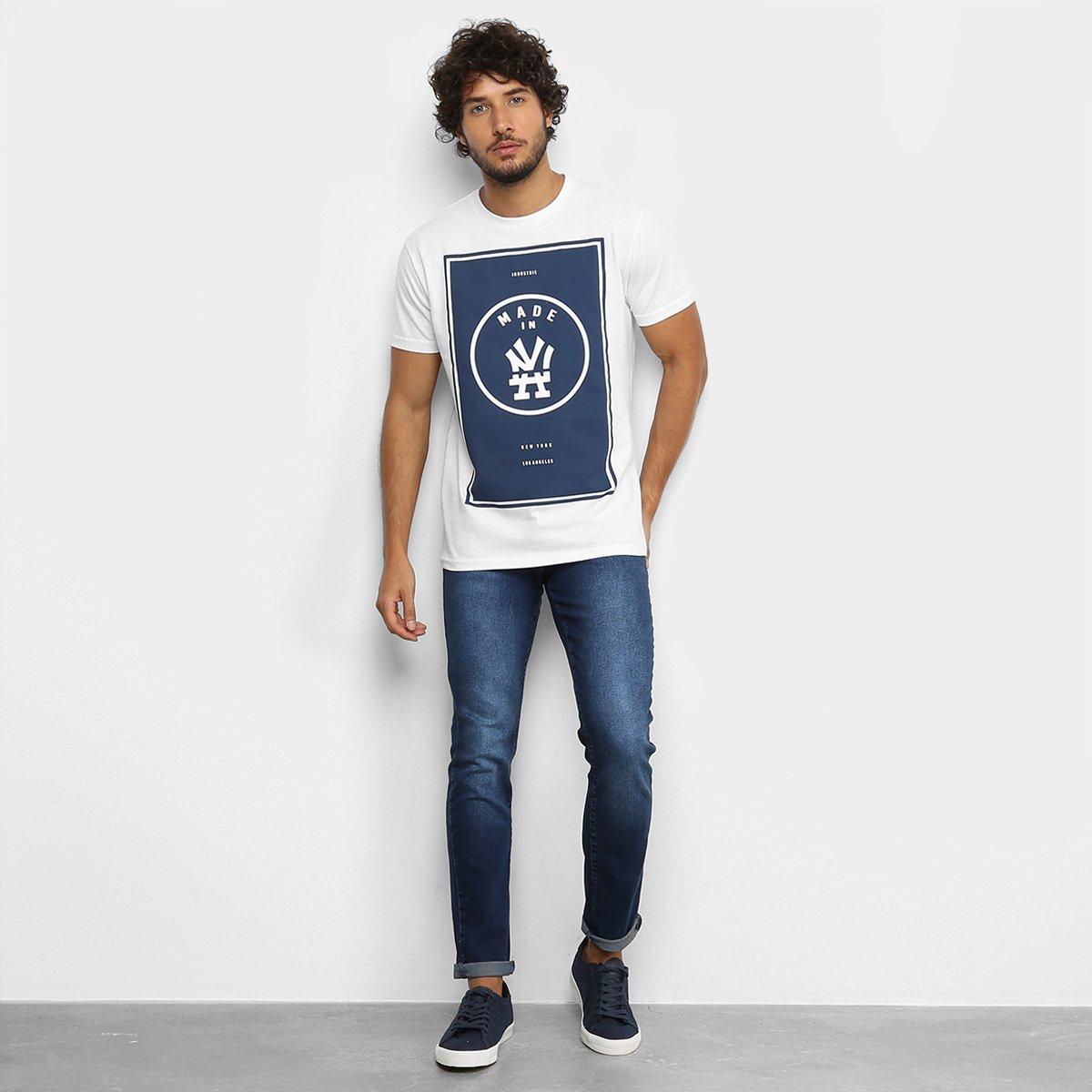 Camiseta Industrie NY LA Masculina - Branco
