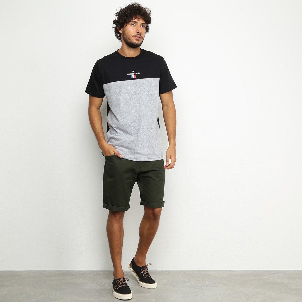 Camiseta Industrie Paris Masculina - Preto e Cinza