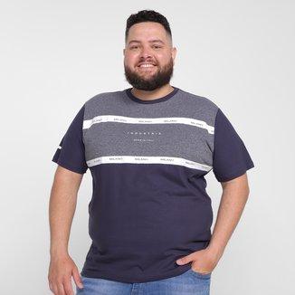 Camiseta Industrie Plus Size Estampada Masculina