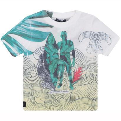 Camiseta Infantil 1mais1 Folhagem Masculina