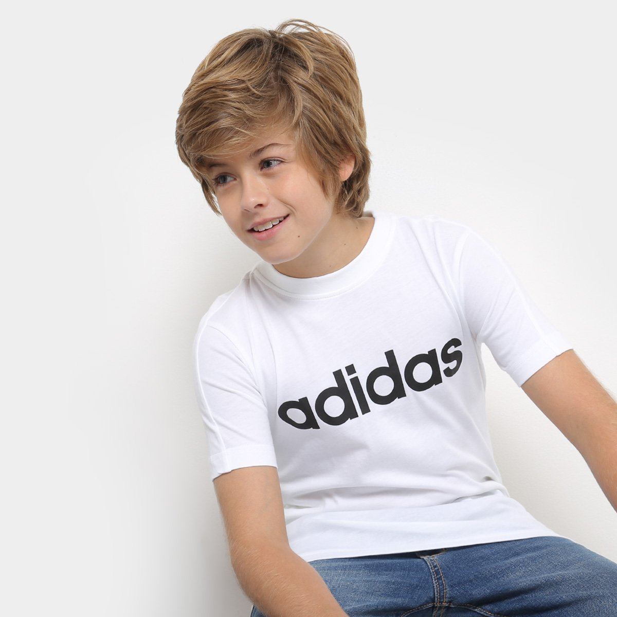 Camiseta Infantil Adidas Mc Yb Lin Masculina - Compre Agora  afd51c90b0fb6