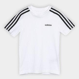 Camiseta Infantil Adidas YB 3 Stripes Tee Masculina