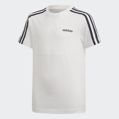 Camiseta Infantil Adidas Yb E 3 Stripes Unissex-Branco