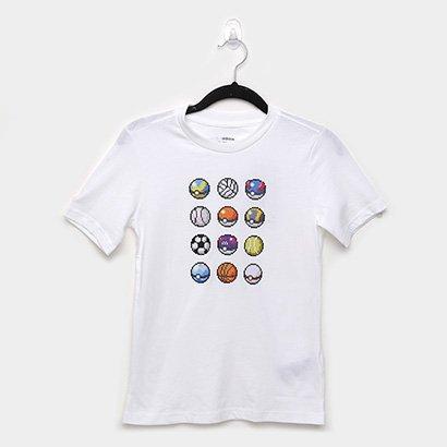 Camiseta Infantil Adidas Yb Pokémon Manga Curta Masculina