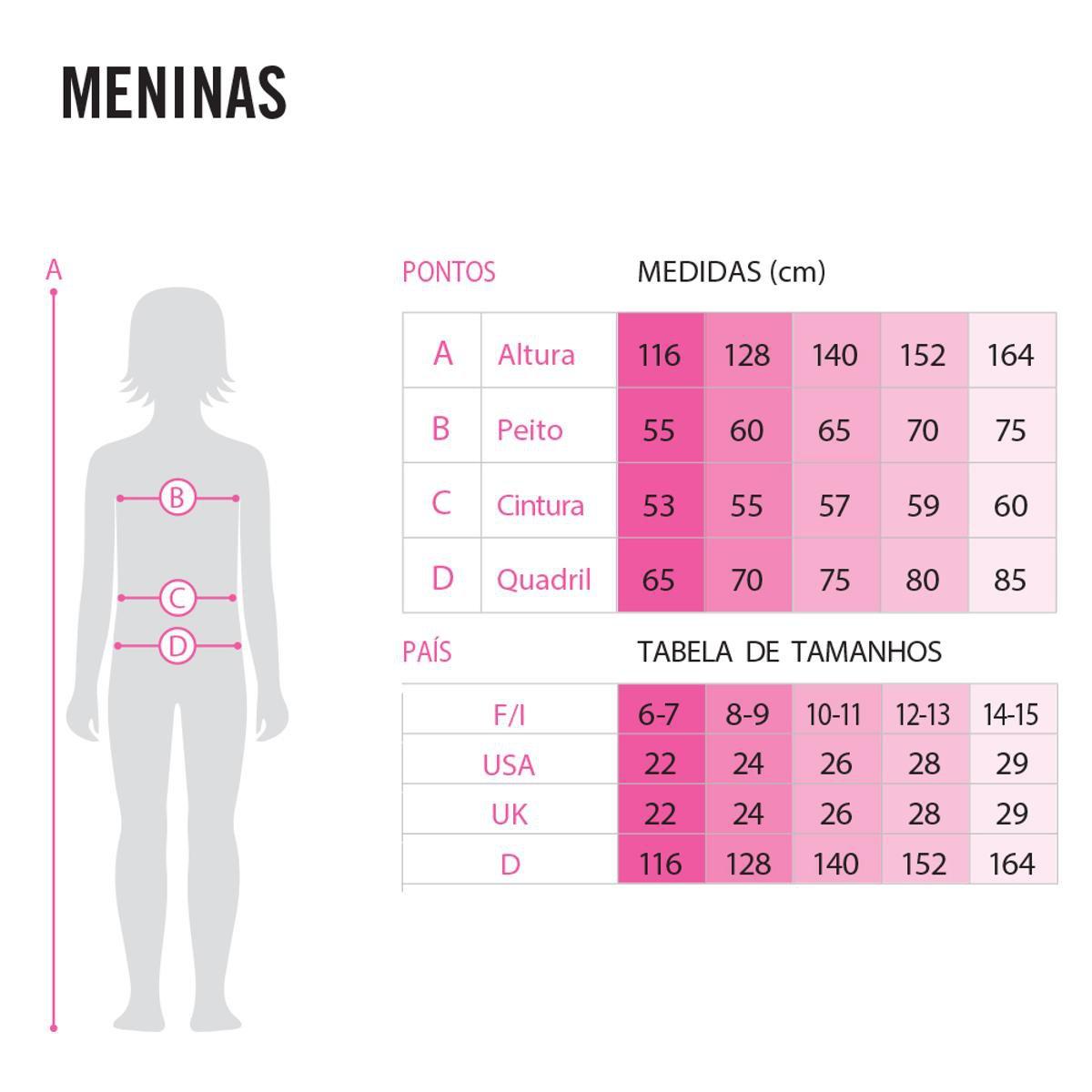 Camiseta Infantil Arena Uv Feminina - Rosa e Azul
