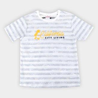 Camiseta Infantil Brandili Listrada Masculina