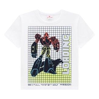 Camiseta Infantil Brandili Robô Masculina