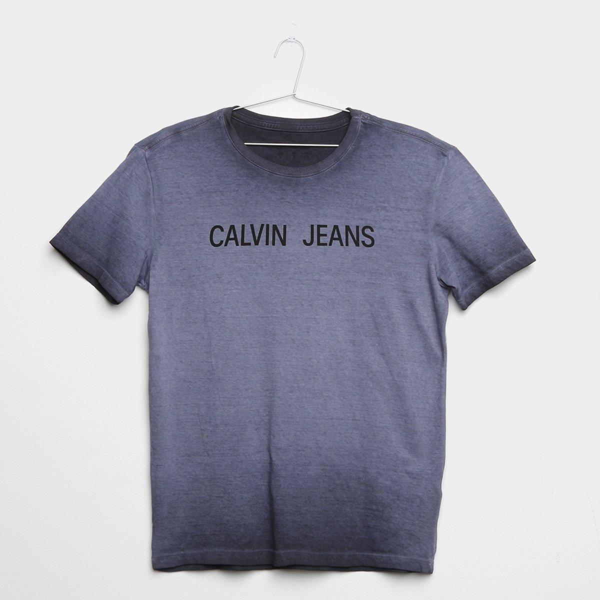 e3334568c Camiseta Infantil Calvin Klein Degradê Logo Masculina - Cinza - Compre Agora