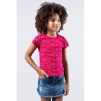 Camiseta Infantil Carimbos Reserva Mini Feminina