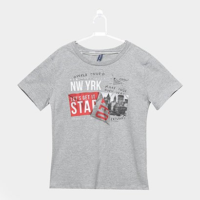 Camiseta Infantil Cativa New York Masculina