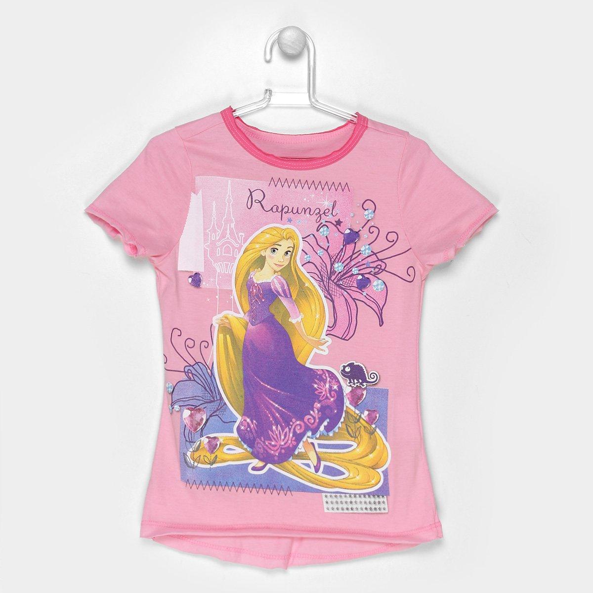 a98f16850a Camiseta Infantil Disney Rapunzel Feminina - Compre Agora