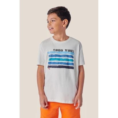 Camiseta Infantil Estampada Mini Sm Good Vibes Reserva Mini Masculina