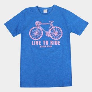 Camiseta Infantil Hering Bike Masculina