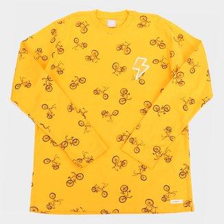 Camiseta Infantil Hering Bikes Manga Longa Masculina