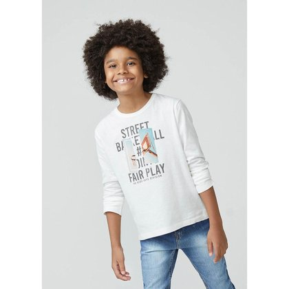 Camiseta Infantil Hering Estampada Manga Longa