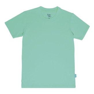 Camiseta Infantil Jokenpô Básica M/C Masculina Verde Água