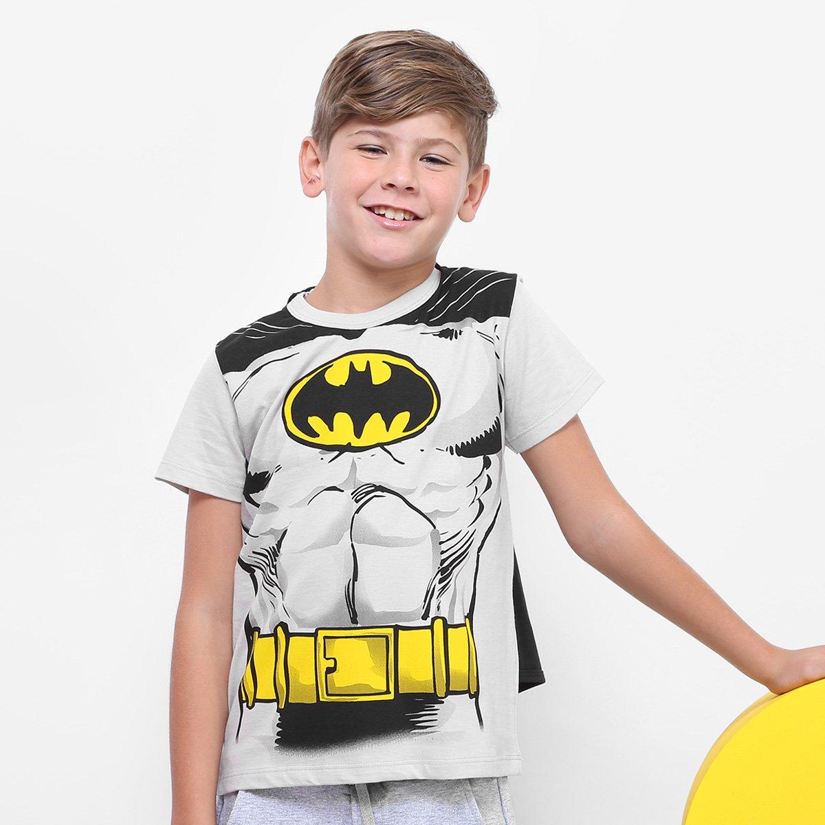 611a5ccb5 Camiseta Infantil Kamylus Com Capa Batman Masculina - Compre Agora ...
