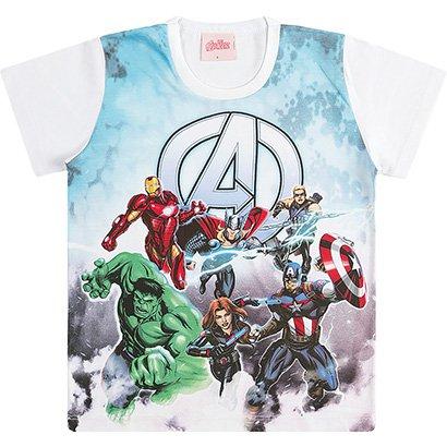 Camiseta Infantil Kamylus Vingadores Masculina