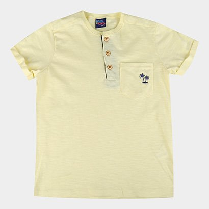 Camiseta Infantil Kiko & Kika Flamê Bolso Masculina