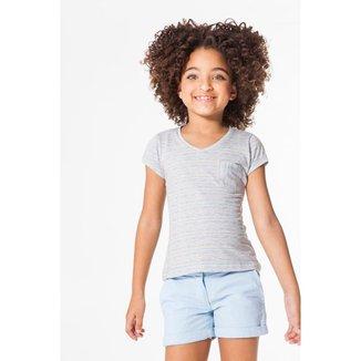 Camiseta Infantil Listra Floresta Reserva Mini Feminina