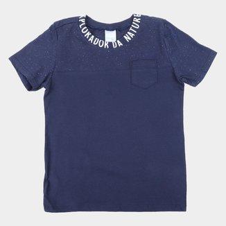 Camiseta Infantil Malwee Básica Batonê Masculina
